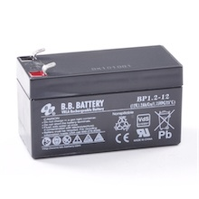 12V 1.2Ah Akku, AGM Bleiakku, B.B. Battery BP1.2-12, VdS, 97x45x53 (lxbxh), Pol T1 Faston 187 (4,75 mm)