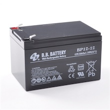 12V 12Ah Akku, AGM Bleiakku, B.B. Battery BP12-12, VdS, 151x98x94 (lxbxh), Pol T2 Faston 250 (6,3 mm)