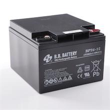 12V 26Ah Akku, AGM Bleiakku, B.B. Battery BP26-12, VdS, 175x166x123 (lxbxh), M5 Innengew.