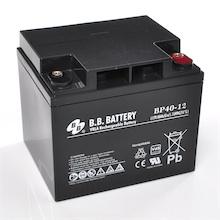 12V 40Ah Akku, AGM Bleiakku, B.B. Battery BP40-12, 197x165x171 (lxbxh), M6 Innengew.