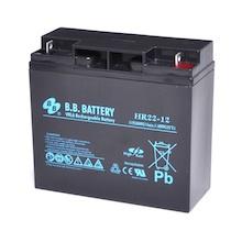12V 22Ah Akku, AGM Blei-Akku, B.B. Battery HR22-12, 181x76x166 (lxbxh), Pol B1 (M5 Schraube und Mutter)