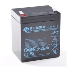 12V 5.8Ah Akku, AGM Bleiakku, B.B. Battery HR5.8-12, 90x70x102 (lxbxh), Pol T2 Faston 250 (6,3 mm)