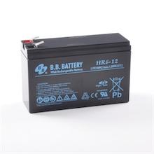 12V 6Ah Akku, AGM Bleiakku, B.B. Battery HR6-12, 151x51x94 (lxbxh), Pol T2 Faston 250 (6,3 mm)
