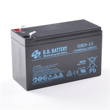 12V 9Ah Akku, AGM Bleiakku, B.B. Battery HR9-12, 151x65x94 (lxbxh), Pol T2 Faston 250 (6,3 mm)