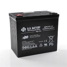 12V 55Ah Akku, AGM Bleiakku, B.B. Battery MPL55-12, 228x139x200 (lxbxh), M6 Innengew.