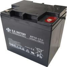 12V 28Ah Akku, AGM Bleiakku, B.B. Battery BP28-12D, 165x125x175 (lxbxh), Pol TP (Rundpol, Stehbolzen M5)