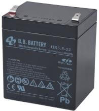 12V 5.5Ah Akku, AGM Bleiakku, B.B. Battery HR5.5-12, 90x70x102 (lxbxh), Pol T2 Faston 250 (6,3 mm)
