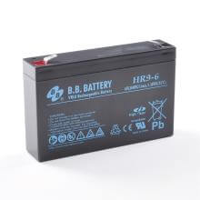 6V 9Ah Akku, AGM Blei-Akku, B.B. Battery HR9-6, 151x34x94 (lxbxh), Pol T2 Faston 250 (6,3 mm)
