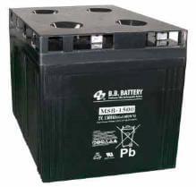 2V 1500Ah Akku, AGM Bleiakku, B.B. Battery MSB-1500, 400x350x341 (lxbxh), Pol B6 (M8 Schraube und Mutter)