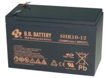 12V 10Ah Akku, AGM Bleiakku, B.B. Battery SHR10-12, 151x65x94 (lxbxh), Pol T2 Faston 250 (6,3 mm)